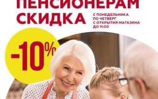 Скидки пенсионерам в Магните — время и дни акций