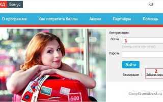 Инструкции по восстановлению и изменению логина и пароля от личного кабинета на сайте РЖД