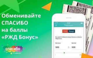 Можно ли оплатить билет на поезд или электричку в РЖД бонусами «Спасибо от Сбербанка»?